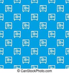 Safe pattern seamless blue
