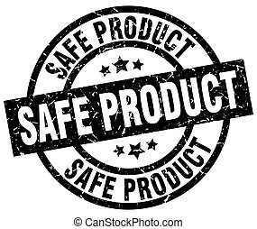 safe product round grunge black stamp