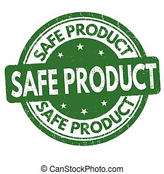 Safe product sign or stamp - Safe product grunge rubber...