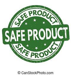 Safe product sign or stamp - Safe product grunge rubber...