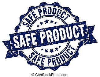 safe product stamp. sign. seal