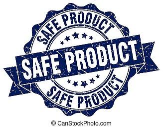 safe product stamp. sign. seal