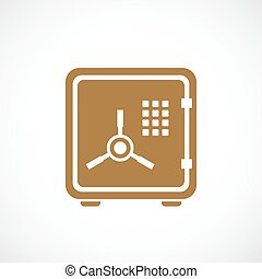 Safe protection vector icon