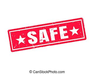 safe red stamp style