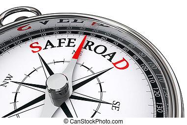 safe road conceptual compass