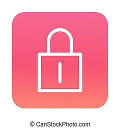 safe secure padlock block gradient style icon