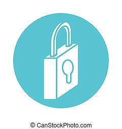 safe secure padlock block style icon