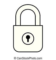 safe secure padlock icon