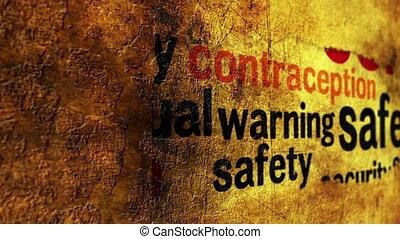 Safe sex grunge concept