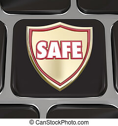 Safe Shield Computer Keyboard Key Button Virus Protection