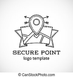 Safe Shield Point Abstract Vector Logo Template