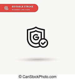 Safe Simple vector icon. Illustration symbol design template for web mobile UI element. Perfect color modern pictogram on editable stroke. Safe icons for your business project