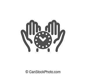 Safe time icon. Clock sign. Office management. Vector