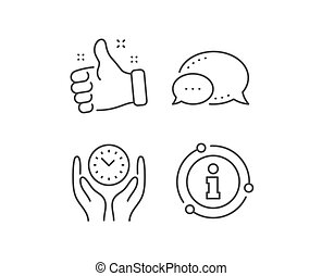Safe time line icon. Clock sign. Office management. Vector