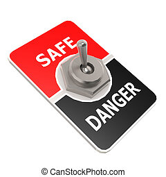 Safe toggle switch image with hi-res rendered artwork that...