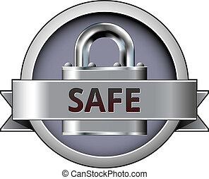 Safe vector badge