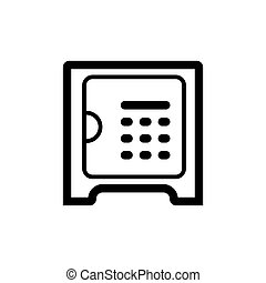 Safe vector icon. Line style. Isolated on white background.