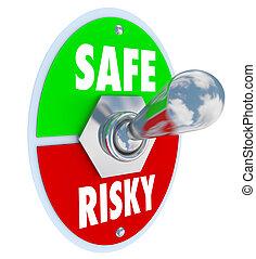 Safe Vs Risky Toggle Switch Secure Behavior Reduce Liability