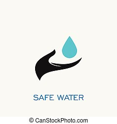Safe water logo,