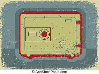 Safe.Grunge symbol on old paper texture