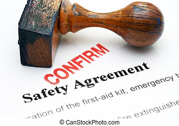 Safety agreement - confirm