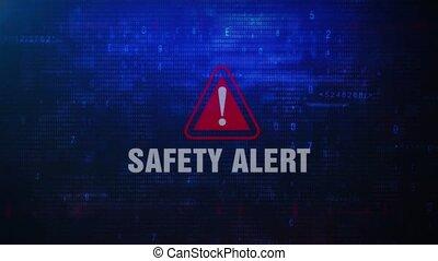 Safety Alert Warning Error Message Blinking on Screen .