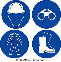 safety at work blue signs