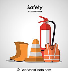 Safety at work icon design