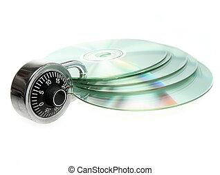 Safety backup - CD/DVD safely backed up by padlock.