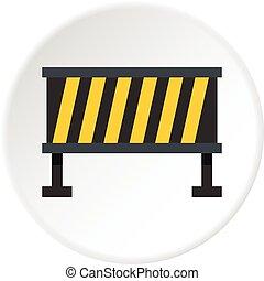 Safety barricade icon circle