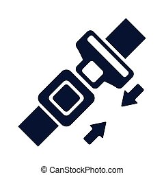 safety belt closed isolated icon