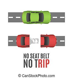 Safety belt conceptual background.