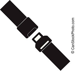 Safety belt icon isolated on white background. Safety belt sign. Trendy Simple vector symbol for web site design or button to mobile app. Logo illustration