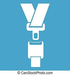 Safety belt icon white