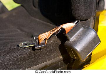 Safety belt of a forklift