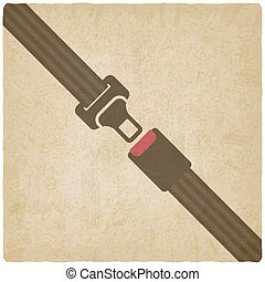 safety belt old background - vector illustration. eps 10