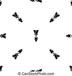 Safety belt pattern seamless black