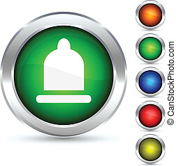 Safety button. - Safety detailed button. Vector...