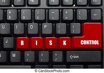 safety campaign - risk control word on red and black...