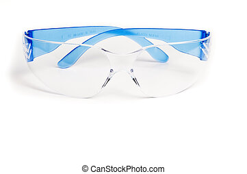 Safety clothing for person protect in a white background