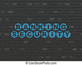 Safety concept: Banking Security on wall background