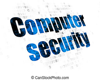 Safety concept: Computer Security on Digital background
