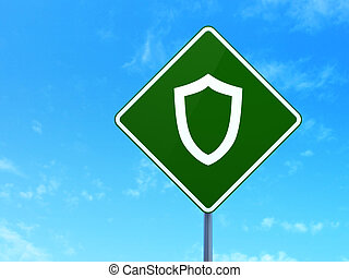 Safety concept: Contoured Shield on road sign
