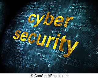 Safety concept: Cyber Security on digital background -...