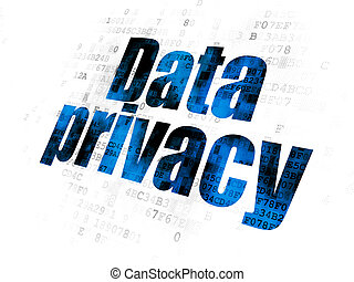 Safety concept: Data Privacy on Digital background