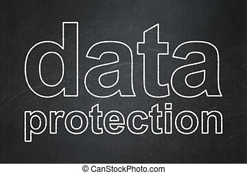 Safety concept: Data Protection on chalkboard background