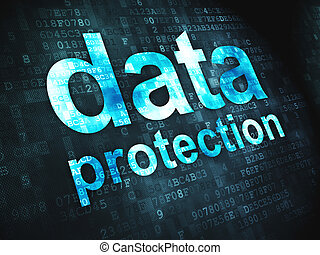 Safety concept: Data Protection on digital background -...