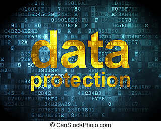 Safety concept: Data Protection on digital background