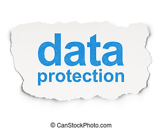 Safety concept: Data Protection on Paper background