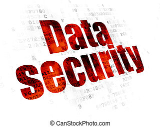 Safety concept: Data Security on Digital background